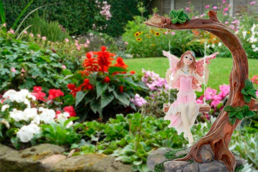 Prepara un jardín mágico de hadas con flores y plantas