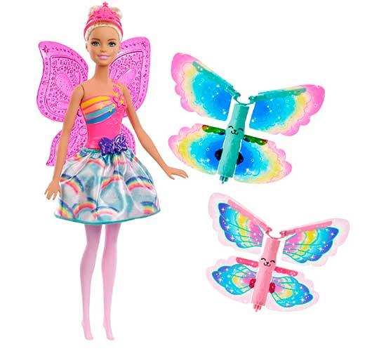 Barbie Dreamtopia Muñeca Hada Alas Mágicas Mattel FRB08