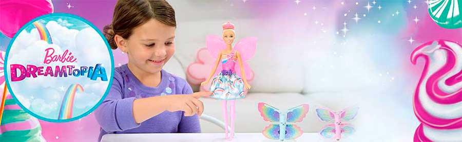 Barbie Dreamtopia Muñeca Hada Alas Mágicas