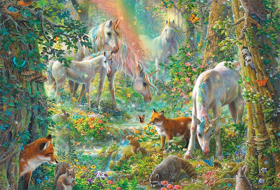 unicornios en la pradera